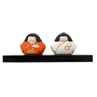 Japan Traditional Folk Art Ceramic Figures - Set of 3