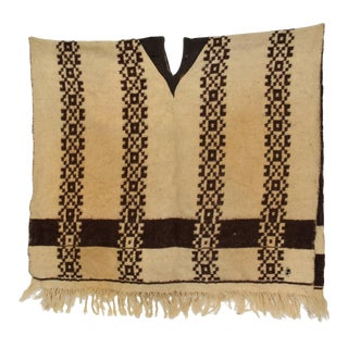 Decorative Antique Wool Serape Blanket Mexican For Sale