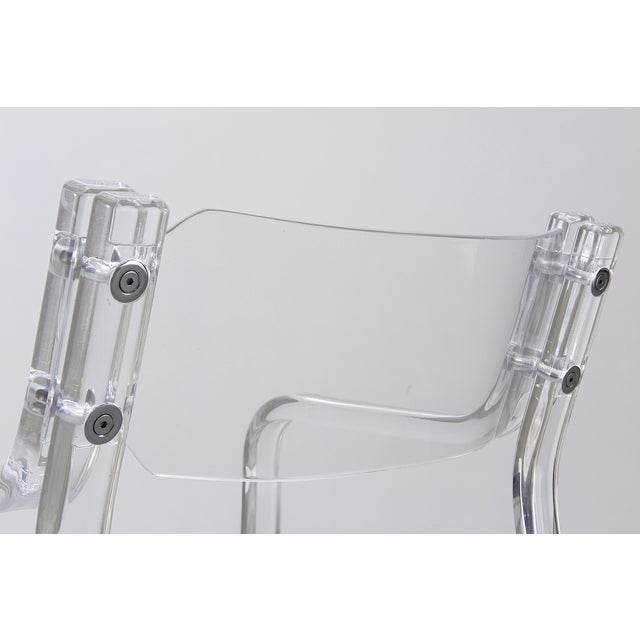 1970's Lucite Armchairs - Set of 4 For Sale - Image 4 of 6