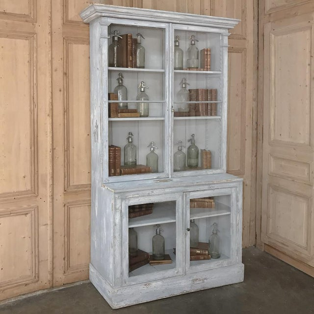 Antique Swedish Scraped Painted Bookcase For Sale - Image 9 of 13