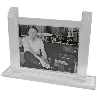 Large Modernist Clear Lucite Picture Photo Frame by Oggi Design For Sale