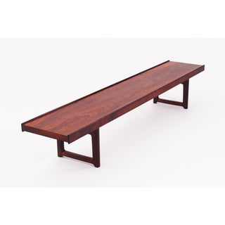 "Vintage Mid Century Rosewood ""Korbo"" Bench by Torbjørn Afdal for Bruksbo / Mellemstrands Preview"