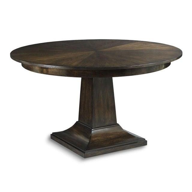 Transitional Modern Parker Pedestal Table For Sale - Image 3 of 3