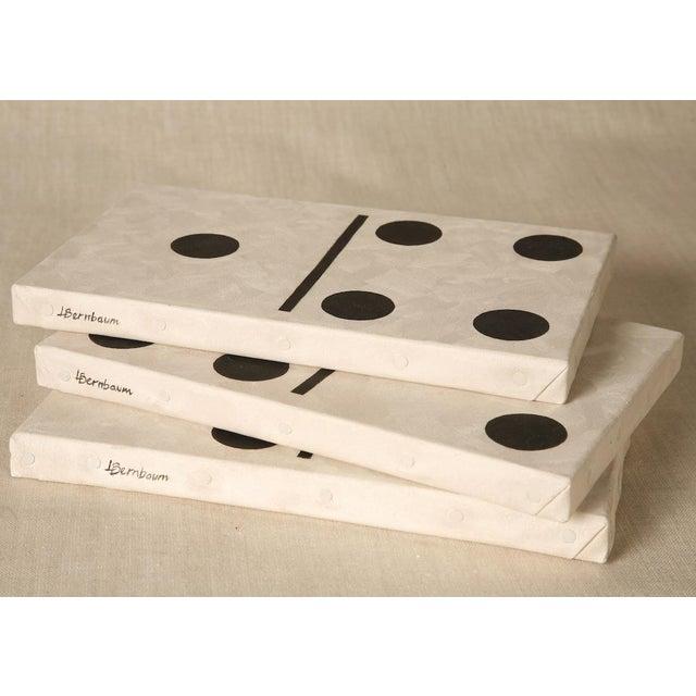 Folk Art Pop Art Domino Set #12 Oil on Canvas by Lynne Bernbaum For Sale - Image 3 of 5