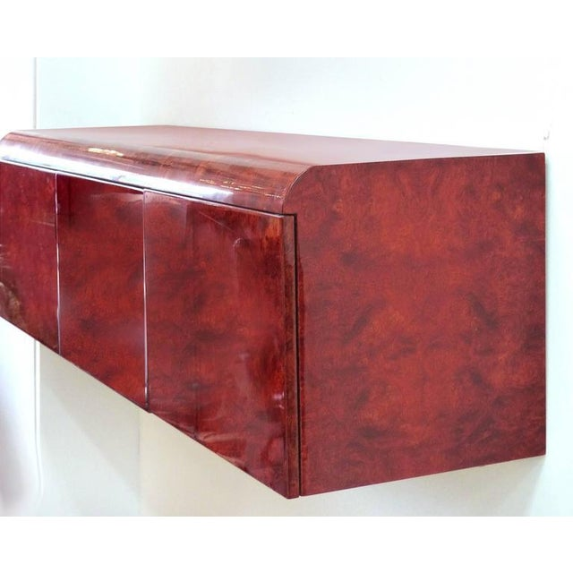 Leon Rosen Pace Hanging Burl-Wood Credenza For Sale In Miami - Image 6 of 11