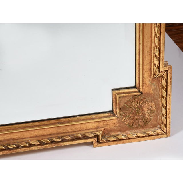 1920s Early 20th Century Matching Pair of Giltwood Hanging Beveled Mirrors For Sale - Image 5 of 11