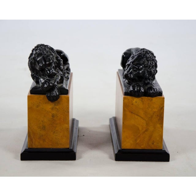 Keep a watchful eye over your literature with this pair of Italian style lion bookends. The iconic lions are based off the...