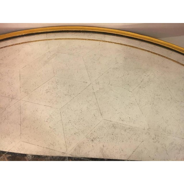 Hollywood Regency Hollywood Regency Style Gilt Based Eglomise & Mirror Top Gueridon Centre Table For Sale - Image 3 of 10