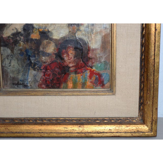 Marsh Nelson (American, Mid 20th C.) Mixed Media Abstract Composition C.1967 For Sale - Image 4 of 8