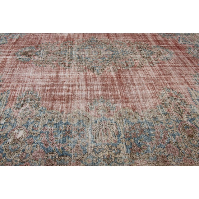 """Apadana-Antique Persian Distressed Rug, 9'5"""" X 13'0"""" For Sale In New York - Image 6 of 9"""