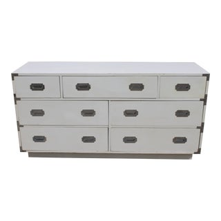 "1960s Vintage ""Dixie"" Campaign Style White Dresser For Sale"