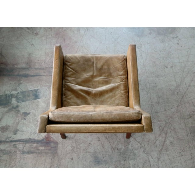 Kai Lyngfeldt Larsen Easy Chair Model 39 Leather Rosewood for Søren Willadsen For Sale In New York - Image 6 of 11
