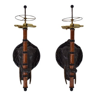 Elephant Sconces by Frederick Cooper - a Pair For Sale