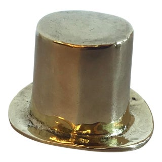Vintage Brass Top Hat For Sale