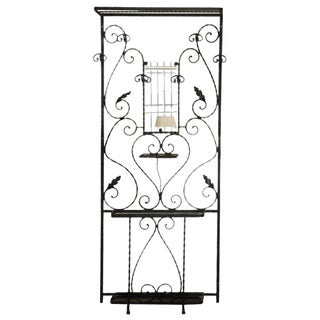 1930s French Wrought Iron Hall Stand For Sale