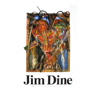 "Jim Dine Thorns 39.25"" X 27.5"" Poster 1987 Pop Art Brown For Sale"