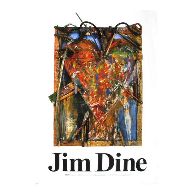 """Jim Dine Thorns 39.25"""" X 27.5"""" Poster 1987 Pop Art Brown For Sale"""