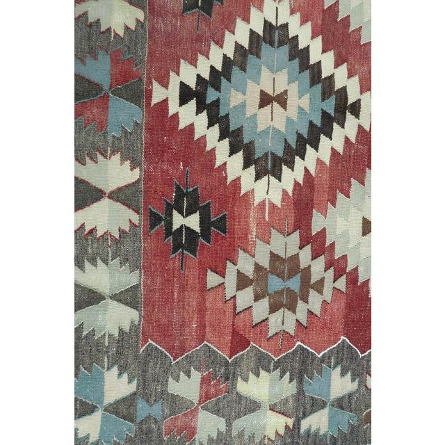 Vintage Turkish Kilim Rug- 5′5″ × 10′ For Sale - Image 11 of 13