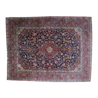 "Leon Banilivi Antique Persian Kashan Carpet - 9'1"" X 12' For Sale"