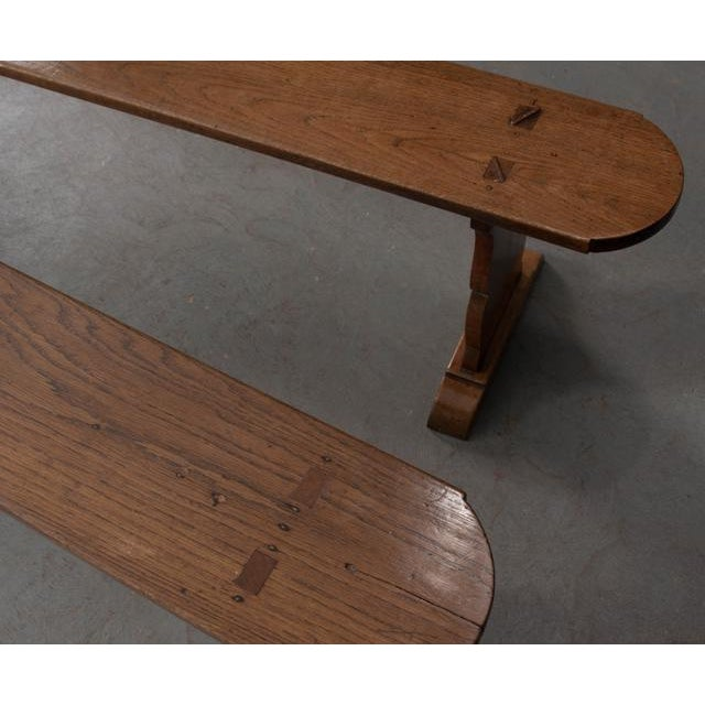 Pair of French 19th Century Provincial Oak Benches For Sale In Baton Rouge - Image 6 of 13