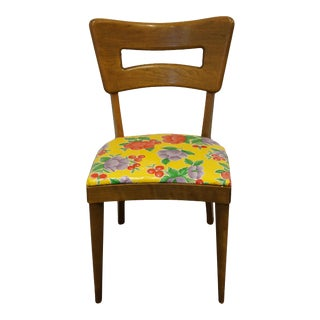 Heywood Wakefield Mid Century Modern Keyhole Dining Side Chair For Sale