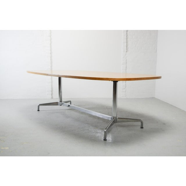 Large Mid-Century Design Eames Conference Dining Table for Herman Miller, Usa, 1960s For Sale - Image 10 of 11