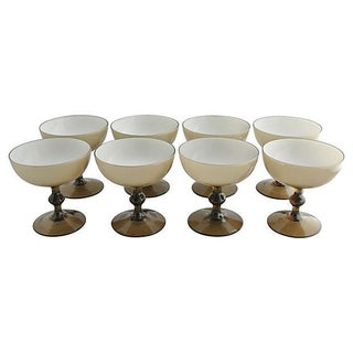 Vintage Murano Champagne Coupes - Set of 8