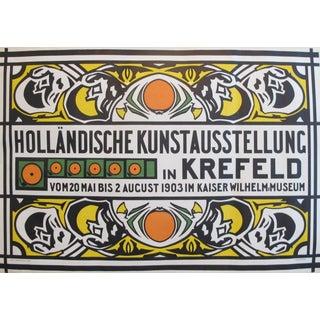 1903 Vintage Dutch Poster, Holländische Kunstausstellung