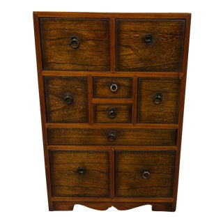 Small Japanese Tansu Chest of Drawers For Sale