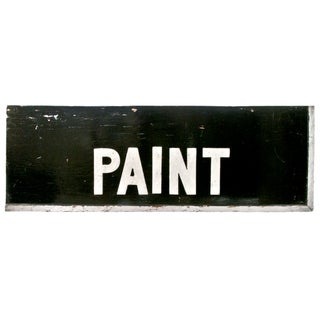 Wood Hardware Store Paint Sign For Sale