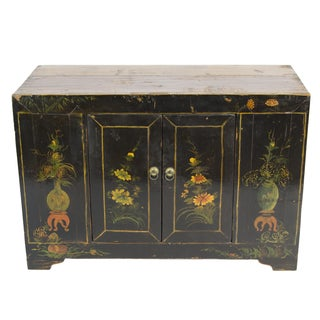 Chinese Antique Black Chest For Sale