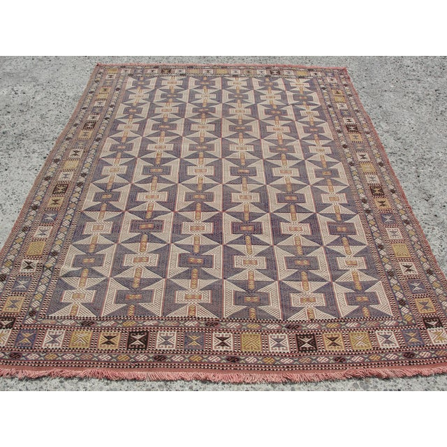 Vintage Turkish Kilim Rug - 6′5″ × 9′6″ - Image 3 of 11