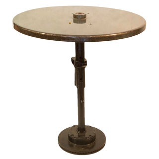 Reclaimed Industrial Bistro Table For Sale