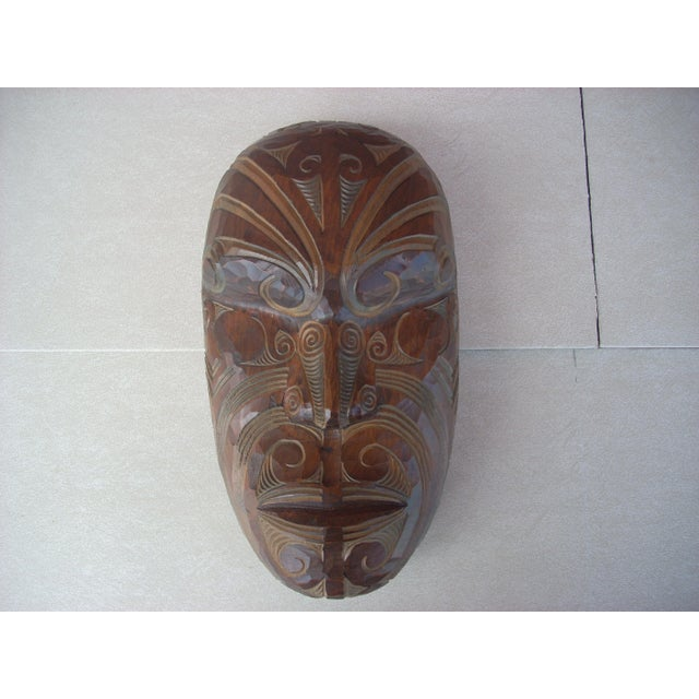 Carved Wooden Face - Image 2 of 5