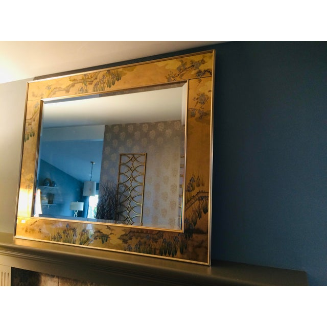 1980s La Barge Chinoiserie Mirror For Sale - Image 12 of 13