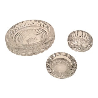 Waterford Crystal Ashtrays - Set of 3 For Sale