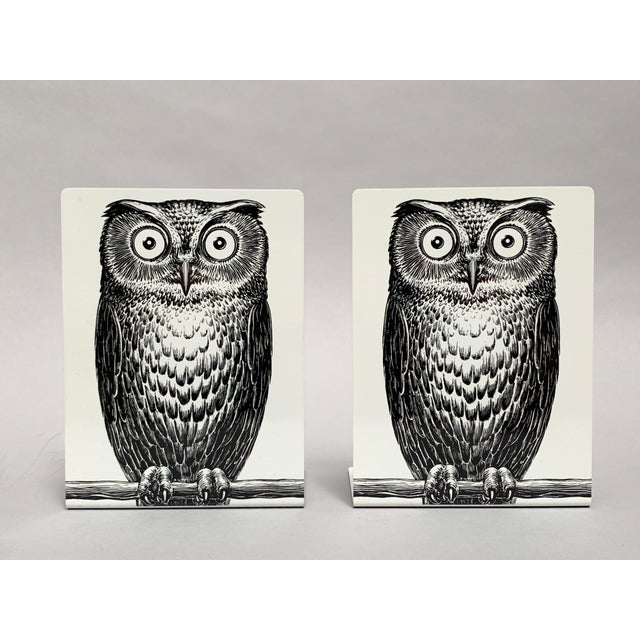 Fornasetti Owl Bookends - a Pair For Sale - Image 12 of 12