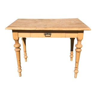 Rustic Pine Table With Drawer