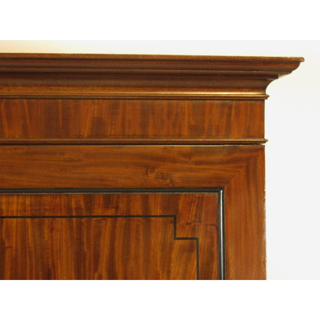 19th-C. Regency Inlaid Linen Press For Sale - Image 5 of 9