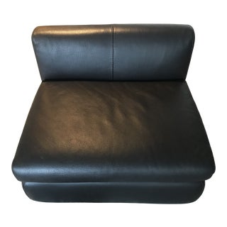 Modern Leather Ottoman Convertible to Seat For Sale