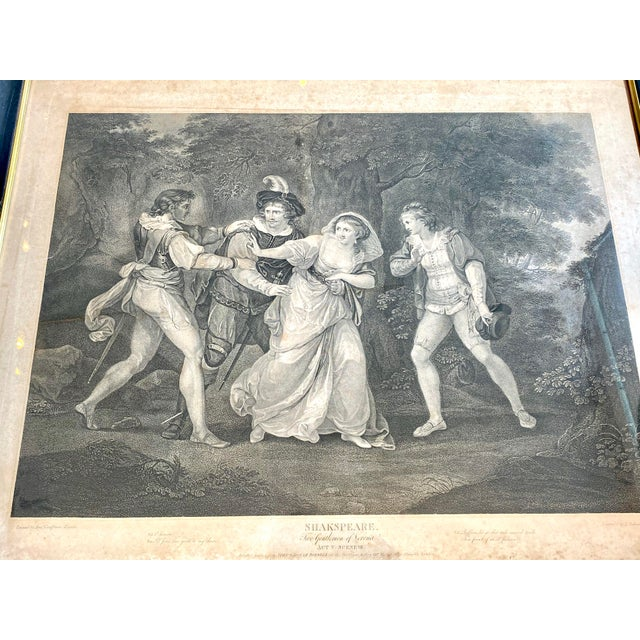 """Gothic 18th Century English Engraving From Shakespeare's """"Two Gentlemen of Verona"""" For Sale - Image 3 of 13"""
