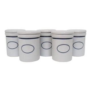 White Dansk Spice Jars, Set of 5 For Sale