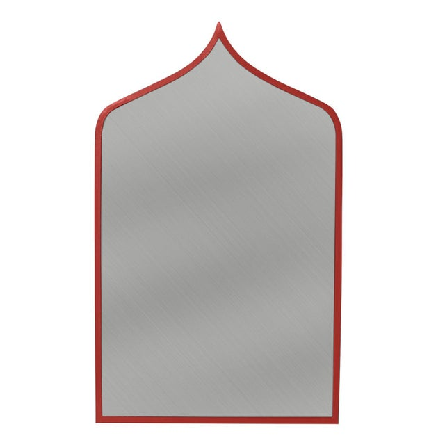 Contemporary Stray Dog Designs for Chairish Marrakesh Mirror, Deep Red For Sale - Image 3 of 3