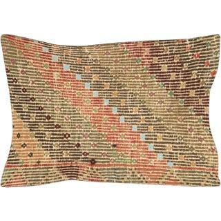 """Nalbandian - 1960s Turkish Cicim Lumbar Pillow - 16"""" X 23"""" For Sale"""