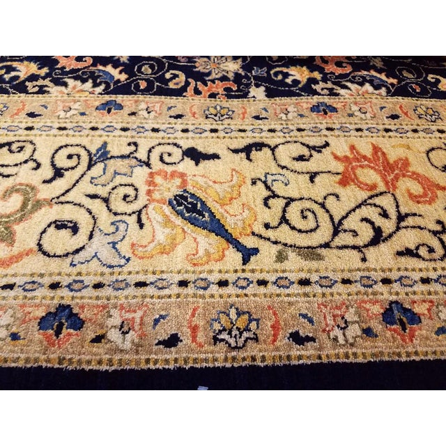 "Kafkaz Peshawar Betsy Blue & Gold Wool Rug - 9'10"" x 13'6"" For Sale - Image 4 of 7"