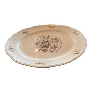 Antique Floral Serving Platter For Sale