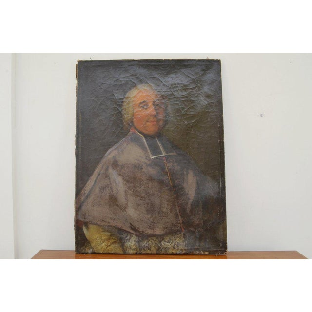 Mid 19th Century Antique Portrait of a Clergyman Painting For Sale - Image 5 of 5
