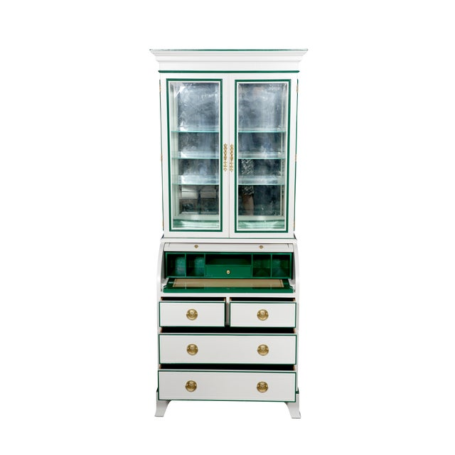 Traditional Heckman Roll Top Secretary Desk For Sale - Image 3 of 7