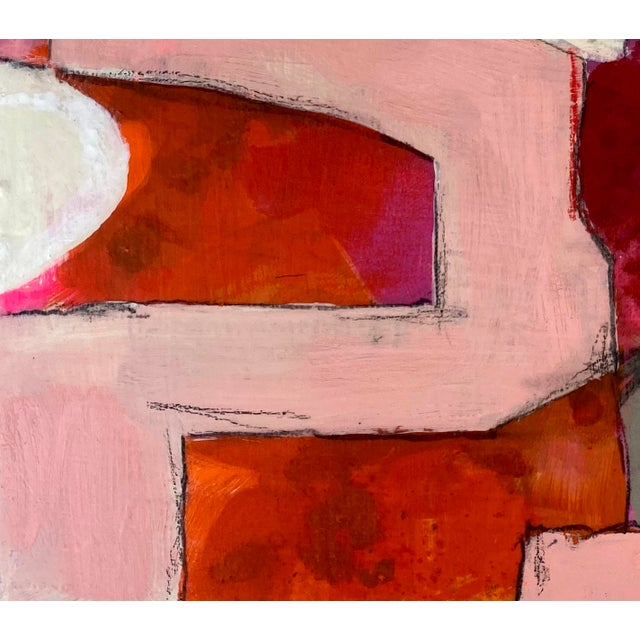 """Abstract Gina Cochran """"I'm With the Band"""" Original Mixed Media Painting For Sale - Image 3 of 5"""