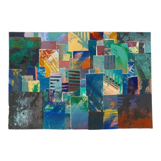 Large Abstract Paper Tapestry Textile Art For Sale